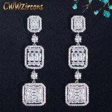 Cwwzircon очень блестящие квадратные белые фианиты Топаз Серебряные