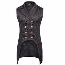 Мужской жилет, готический, стимпанк, викторианский стиль, подходит для стимпанк-тематики, рок, вечерние, модное шоу, повседневный костюм