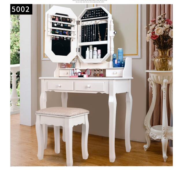 European Solid Wood Dressing Table Bedroom Multifunctional Dressing Table Cosmetic Table Mini-household Modern Simple Cosmetic C