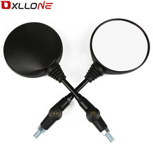 Universal Motorcycle Mirror  Rearview 650 Anti-fall Folding Round Side for kawasaki ZX6 ZX6R/636