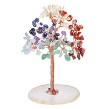 Tumbeelluwa 7 Чакр Хрустальное дерево денег на натуральный кусок