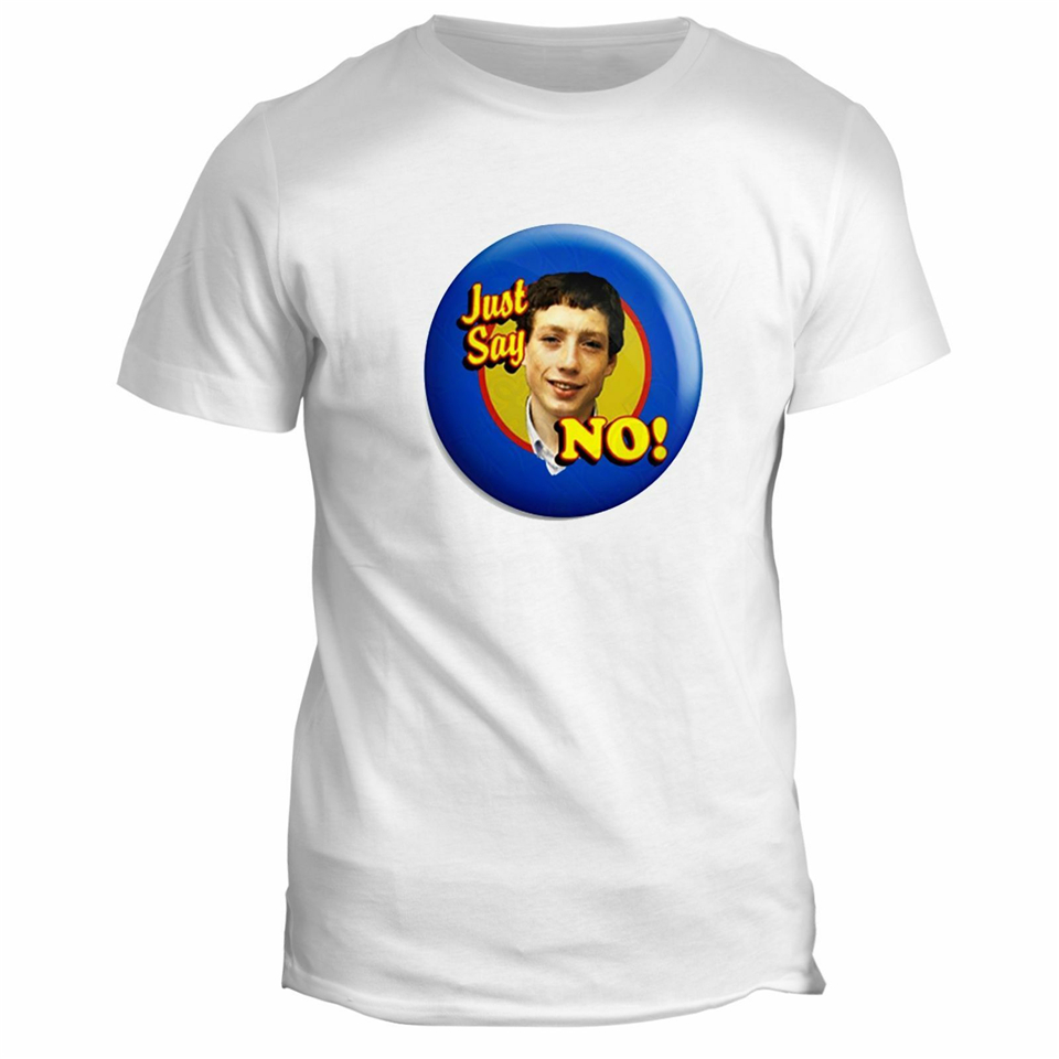 Grange Hill Zammo Say No Novelty Funny Retro TV Movie Comedy Film T-Shirt Tops Tee Shirt Summer Style Casual Wear image