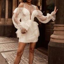 Белое кружевное платье high street Трендовое дизайнерское тонкое