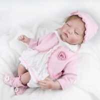 NPKDOLL-Muñeca de reborn de 55cm para niñas, ropa suave de 22 pulgadas