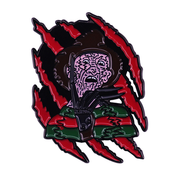 Elm Street American horror film created by Wes Craven Lapel Pin the Killer image