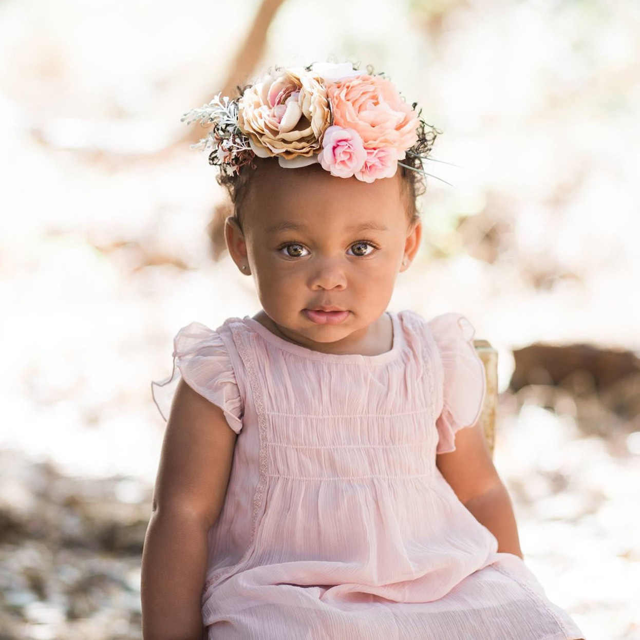 Baby Girl Headbands Floral Crown Kids Flower Toddler Hair Accessories Lovely Newborn Headdress Diy Glitter Headbands for Girls