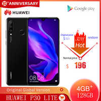 Original versión Global Huawei P30 Lite 4GB 128GB teléfono móvil 6,15 pulgadas Smartphone 32MP 4 * con cámaras en Google, Android 9,0