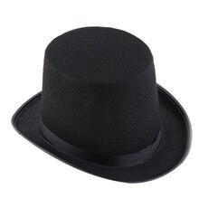 Шляпа на Хеллоуин черный Кепки аксессуар к костюму для вечеринки гибридное волокно Хэллоуин Волшебная Магия джазовая шляпа вечерние украшения