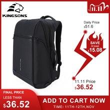 Kingsons sac à dos pour hommes, adapté à lordinateur portable 15 et 17 pouces, avec recharge USB, espace multicouche, voyage Anti vol Mochila