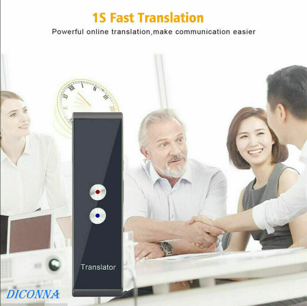 Image 4 - Portable T8 Smart Voice Speech Translator Two Way Real Time 40+ Multi Language Translation For Learning Travelling Business Meet-in Translator from Consumer Electronics
