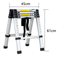 1.4M+1.4M Thickened Aluminum Alloy Telescopic Ladder Multi-purpose Herringbone Ladder Portable Home Folding Engineering Ladder