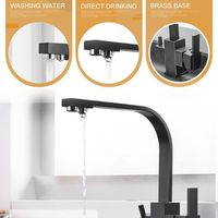 New 3 in 1 Water Purifier Faucet Kitchen Sink Net Faucet Rotating Straight Drinking Fountains Pure Water Home Square 360 Degre