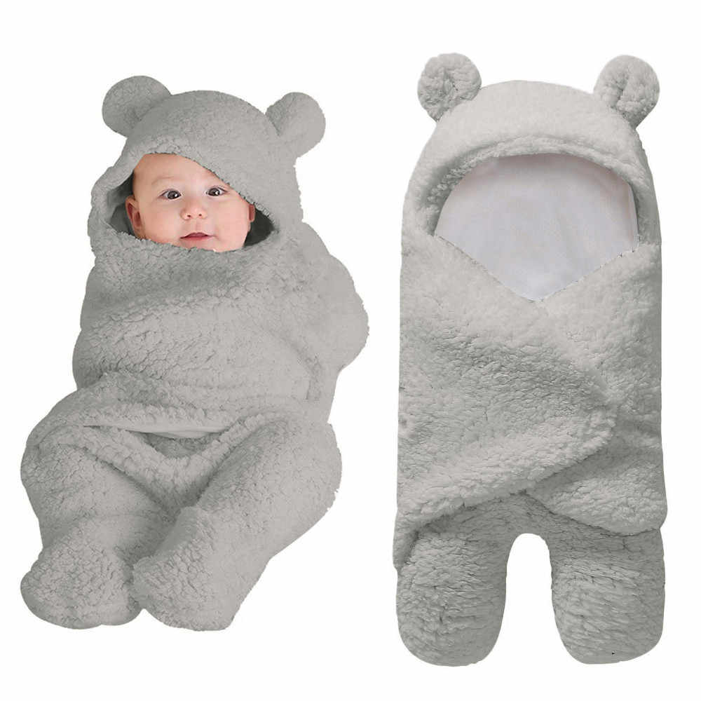baby blanket Cute Cotton Receiving White Sleeping Blanket Boy Girl Wrap Swaddle Sleepsacks Sleeping Bag manta bebe #3F