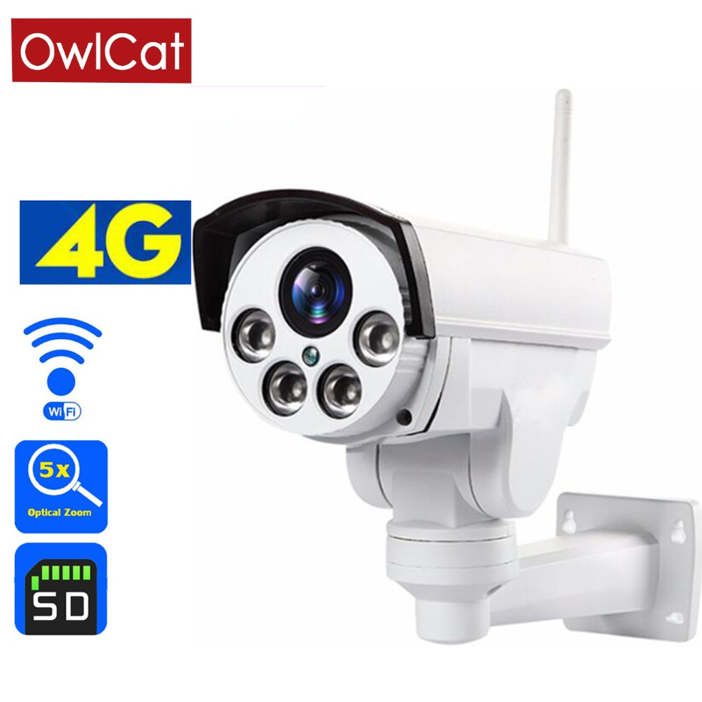 Owlcat HD 1080P <font><b>3G</b></font> <font><b>4G</b></font> <font><b>SIM</b></font> <font><b>Card</b></font> Wireless IP <font><b>Camera</b></font> 2MP 5X 10x Optical Zoom MIC Voice Monitor Home Security Surveillance <font><b>Camera</b></font> image