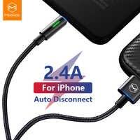 Câble de chargeur USB Mcdodo pour iPhone X XR XS Max 8 7 6 6s Plus iPad pour cordon lightning câble de données de déconnexion automatique à charge rapide