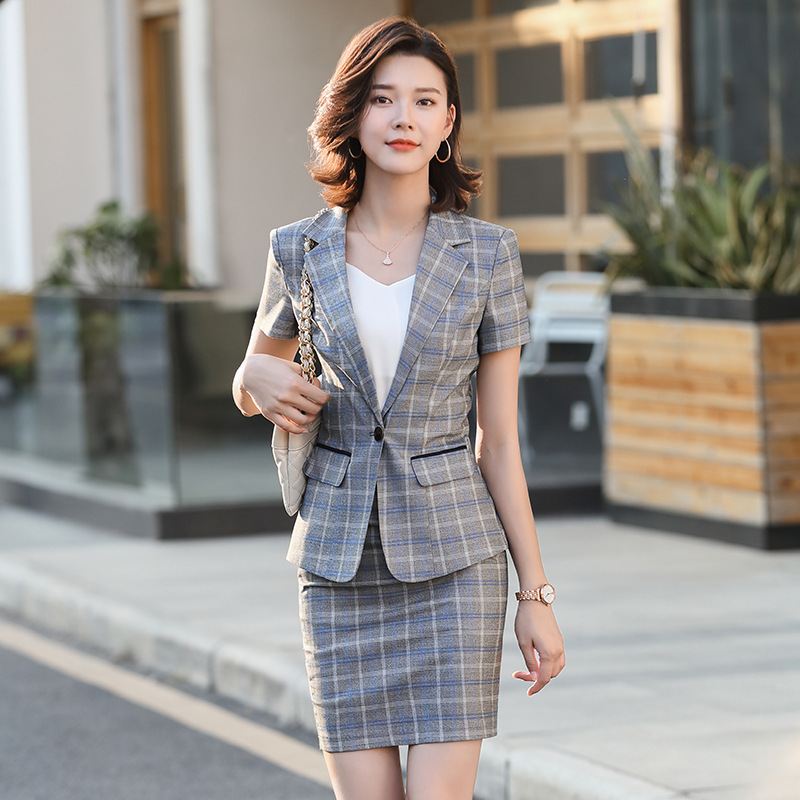 Xn9833 Wear WOMEN'S Short Sleeved 2020 Spring And Summer New Style Fashion Korean-style Casual Suit Elegant Interview WOMEN'S Su
