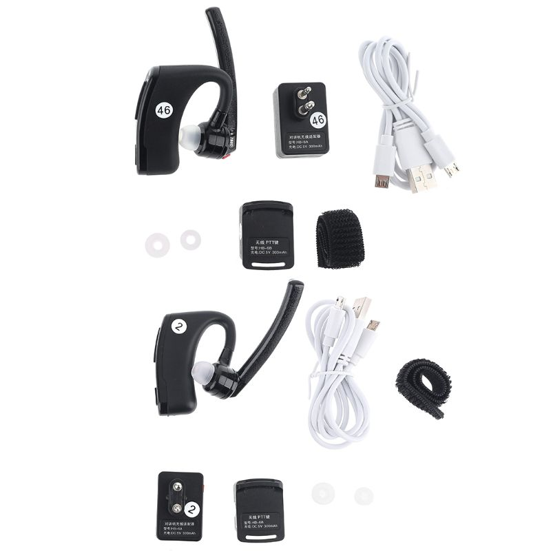 Walkie Talkie Bluetooth PTT Earpiece Wireless Headset Mic Adapter For UV-82