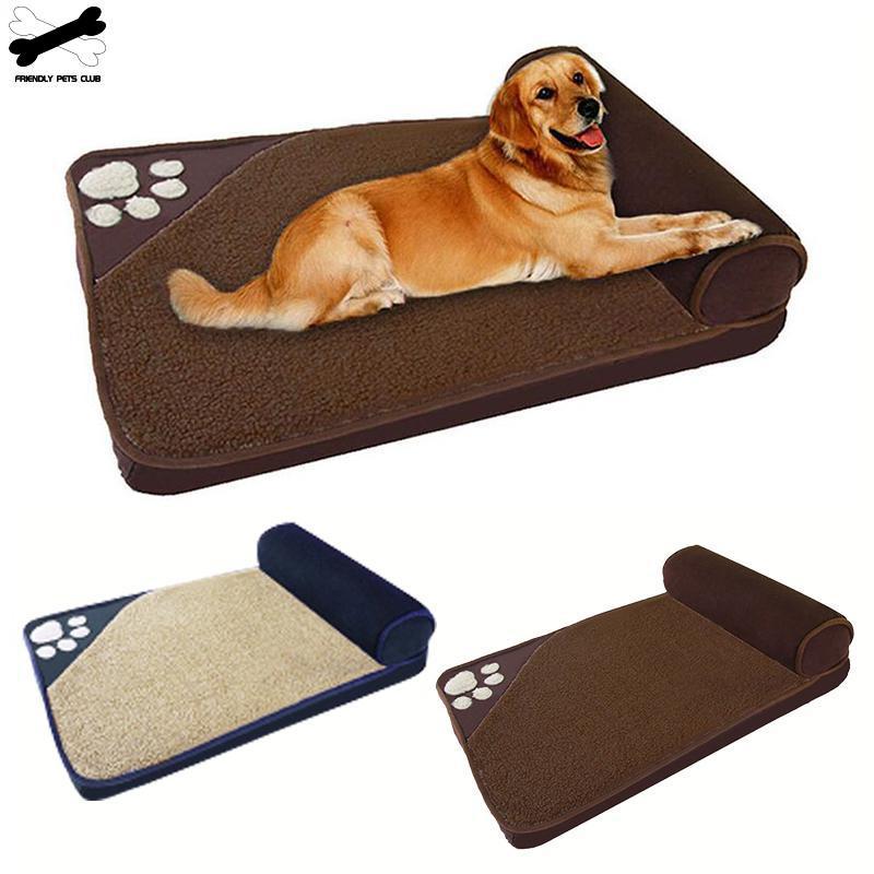 Grande cama de cão de estimação inverno quente canil dormir casa travesseiro cama removível ninho de animais de estimação suprimentos