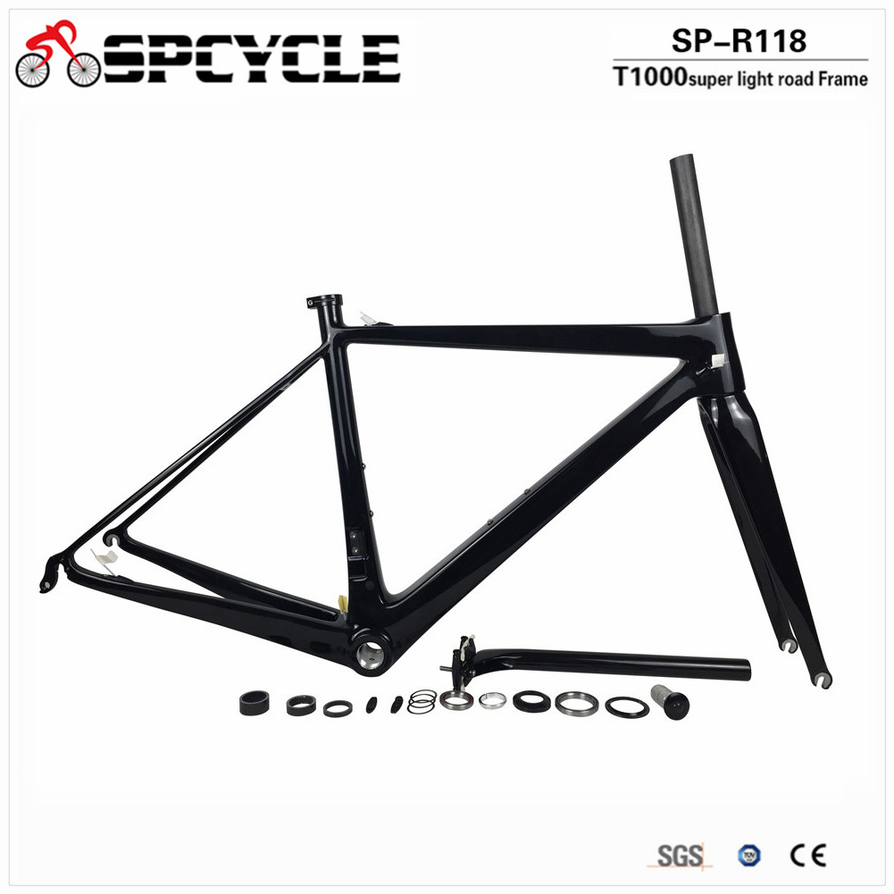 Spcycle Ultralight T1100 Full Carbon Road Bike Frame Monocoque Road Bicycle Carbon Frame BSA Racing Bicycle Cycling Framesets