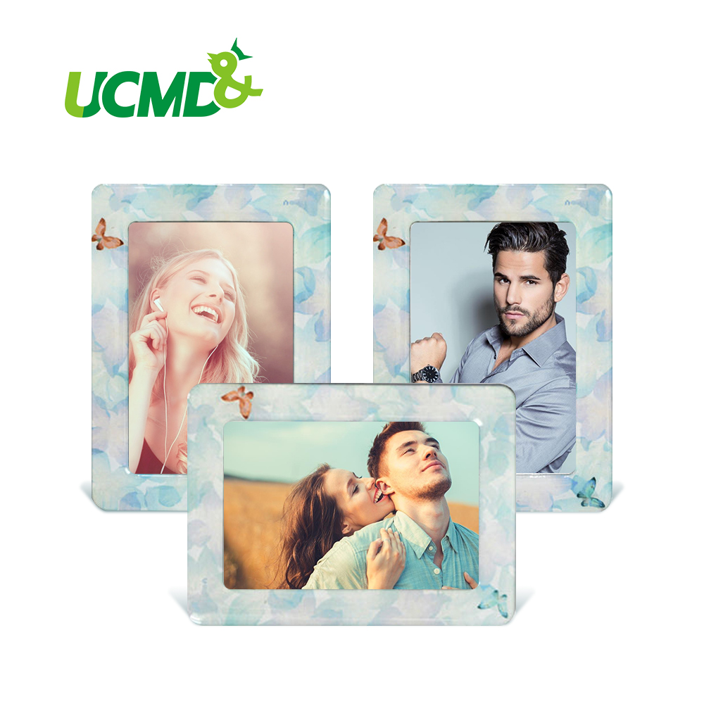 3.5x3 Inch Magnetic Picture Frame Lovely Magnetic Fridge Photo Frame Sticker For Painting Picture Poster File Home Office Decor