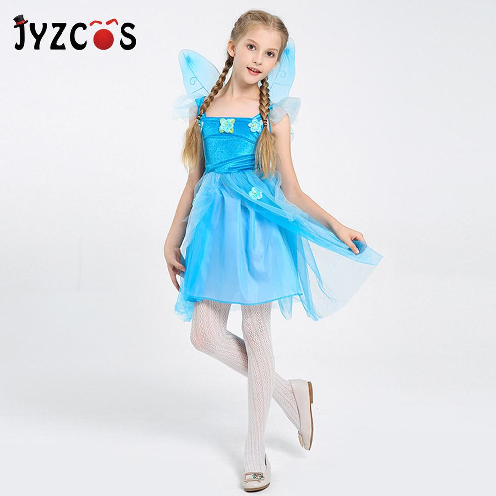 Tinker Bell Fairy Pixie Green Dress Up Halloween DLX Teen Adult Costume w//Wings