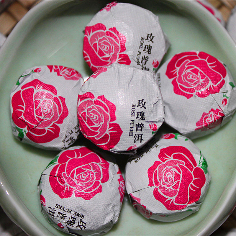 Yunnan Pu'er Tè Rose Compressa Mini Puer Tè Sfuso Mini Compressa Mini Puer Tè di Pu'er Cotto Tè