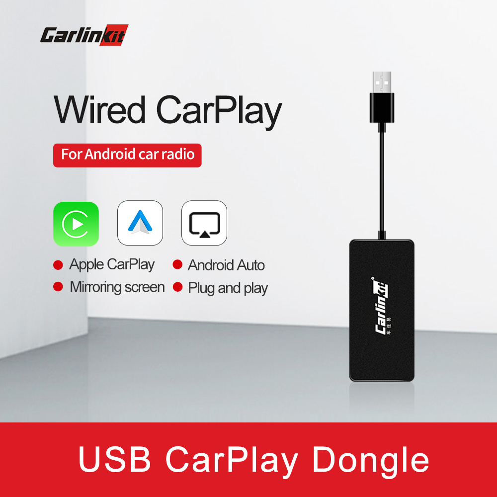 Carlinkit Apple CarPlay /Android Auto USB Dongle For Android System Car Stereo Head Unit Support Mirror-link Online Map Music