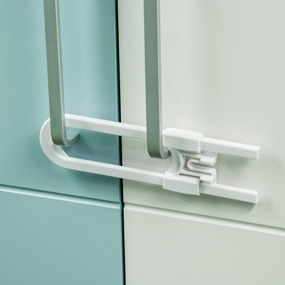 Children Security Locks U Shape Safety Lock Drawer Cabinet Cupboard Door Latch Supplies For Household Children Baby