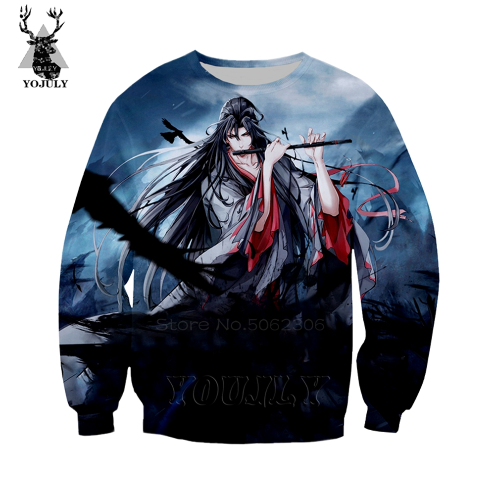 Grandmaster Of Demonic Cultivation Sweatshirt Mo Dao Zu Shi Wei Wuxian Hot Anime Men's Hoodies 3D Print Hip Hop Streetwear Tops
