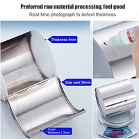Stainless Steel Toilet Tissue Holder Cylinder Roll Paper Towel Rack for Bathroom Toilet Store