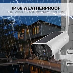 Image 4 - Solar Power 4G karta SIM bezprzewodowa kamera IP naładuj baterię 1080P 4X Zoom Audio IR nocny widok wideo na zewnątrz kamera monitorująca