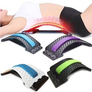 Image 2 - ストレッチ機器バックマッサージ魔法ストレッチャフィットネス腰椎サポートリラクゼーションメイト脊椎痛みカイロプラクターメッセージ