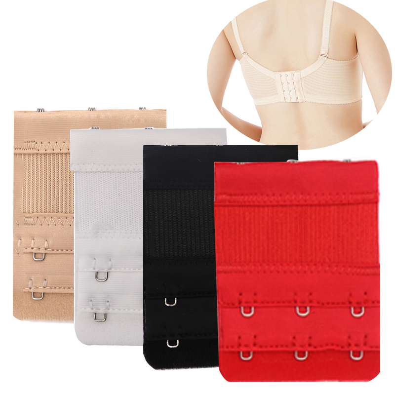 3/4pcs Women's Underwear Bra Extension Extender 2/3 Hooks Lengthened Bra Bands Extenders Replacement Bra Intimates Accessories