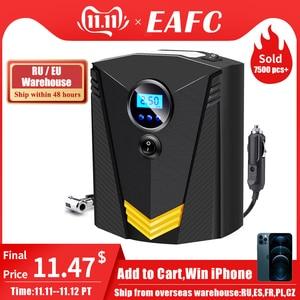 Image 1 - Compresor de aire portátil para coche inflador digital de neumáticos DC 12V, bomba de aire de 150 PSI automática para coche y motocicleta, con luz LED