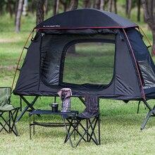 1 pessoa dobrável fora da terra acampamento dormir cama tenda berço, acampamento berço cama tenda, CZ-336 barraca de acampamento construir no berço ou usar sozinho