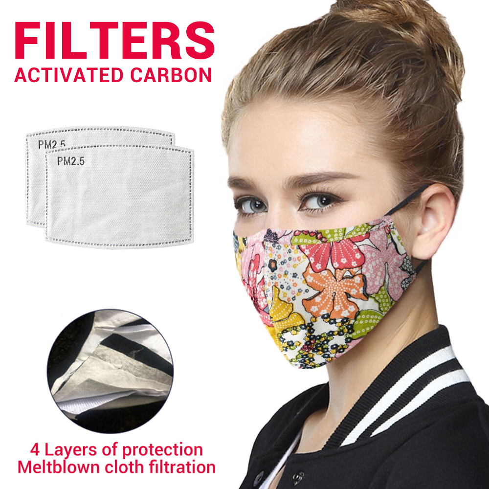 Cotton Respirator Face Mask Mouth Caps With Filter Unisex Activated Carbon Filter Anti Dust Protective Mask Face Masks Reusable