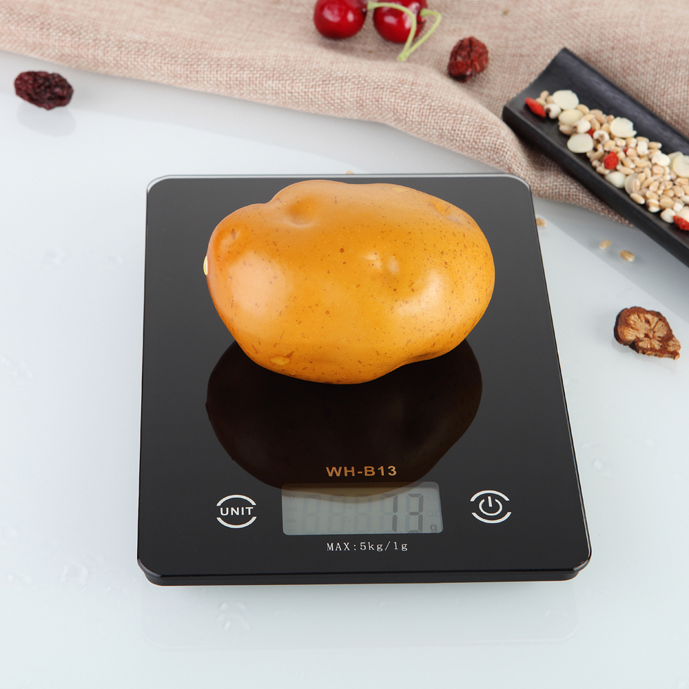 5kg/1g Ultra-thin Digital Kitchen Scale,LED Electronic Food Diet Measuring FRP Weight,Battery Operated Mini Cooking Balance