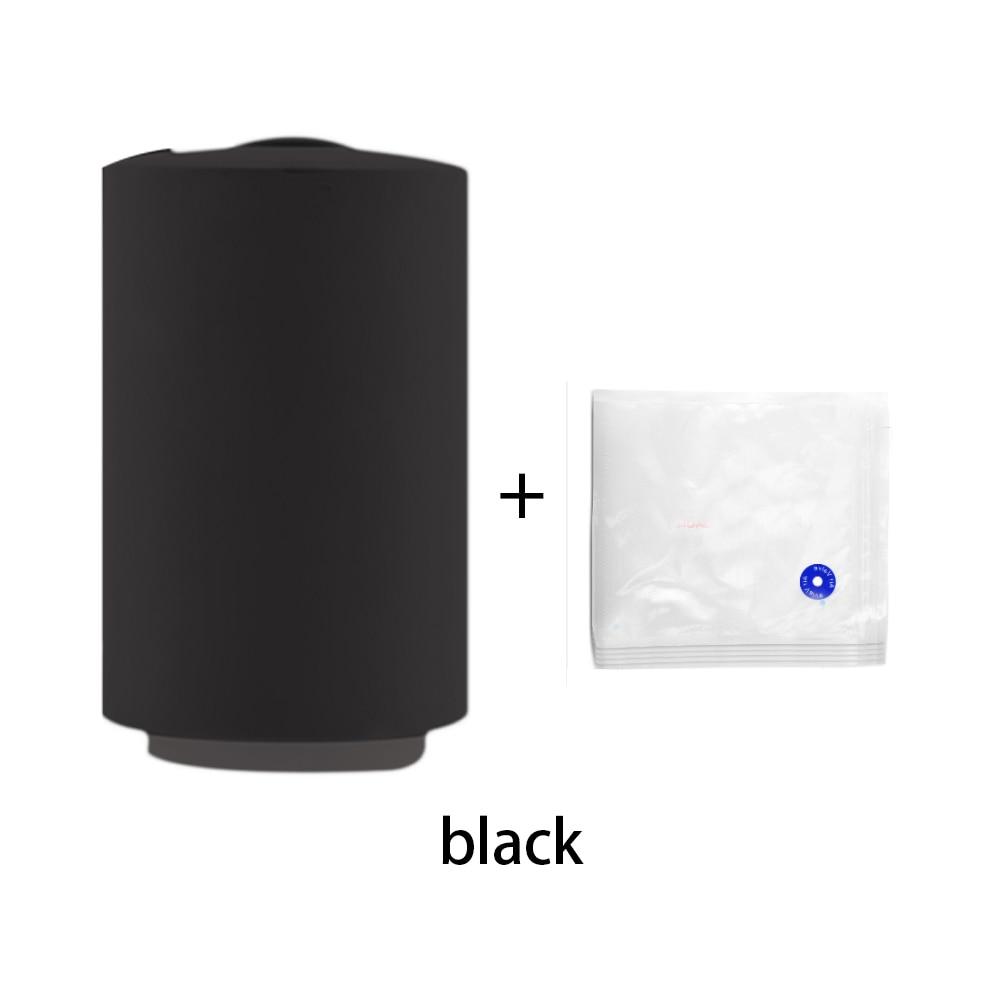 Вакуумный упаковщик для пищевых продуктов, USB, бытовая упаковочная машина, упаковщик, Ручной вакуумный упаковщик с 5 упаковочными пакетами, вакуумный упаковщик для пищевых продуктов - Цвет: USB Model Black