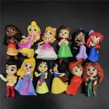 Princess Comics Mini Series 2 Mulan moana Prince Charming Cinderella Aladdins Phillip Display collection model toy disney princess игровой набор с мини куклами petite princess cinderella and prince charming