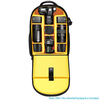 Neewer 2-in-1 Wheeled Camera Backpack  2