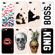 Skull Cover For iPhone 7 Plus 8 6 6s S Fundas For iPhone X 4