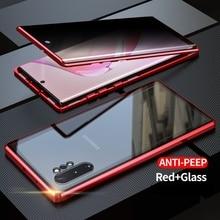 Чехол для Huawei Honor 20 honor 20 Pro Nova 5T Анти шпион 9H полная конфиденциальность закаленное стекло Защита экрана металлический магнитный чехол
