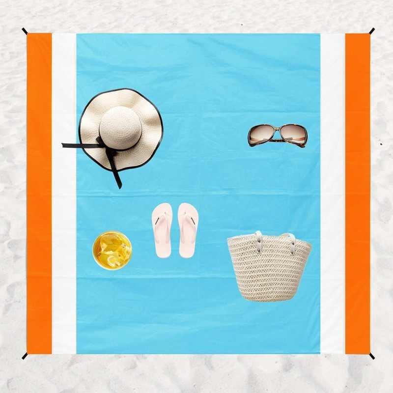 Tapis de pique-nique de couverture de plage libre de sable extérieur 78X99 ''tapis imperméable portatif Ultra léger tapis extérieur de poche compacte rapide