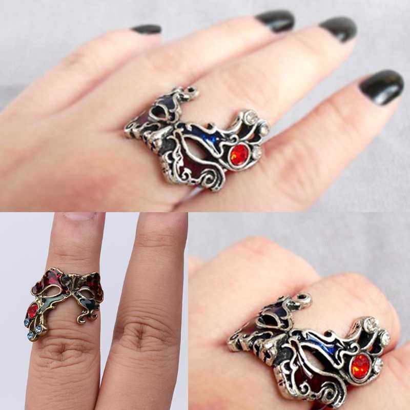 В стиле ретро; маска для лица Уход за кожей лица Стиль уникальные браслеты с подвесками в стиле панк палец кольцо Петля ювелирные изделия Новые W2952001