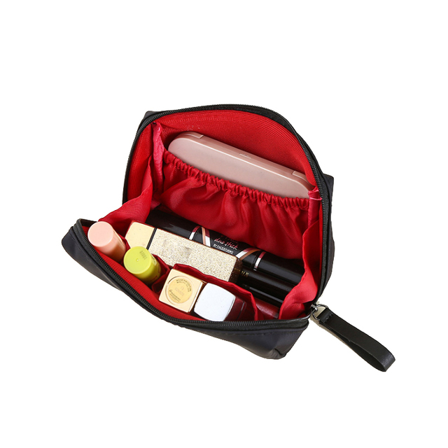 PURDORED 1 pc Solid Cosmetic Bag Korean Style Women Makeup Bag Pouch Toiletry Bag Waterproof Makeup Organizer Case necessaire 2