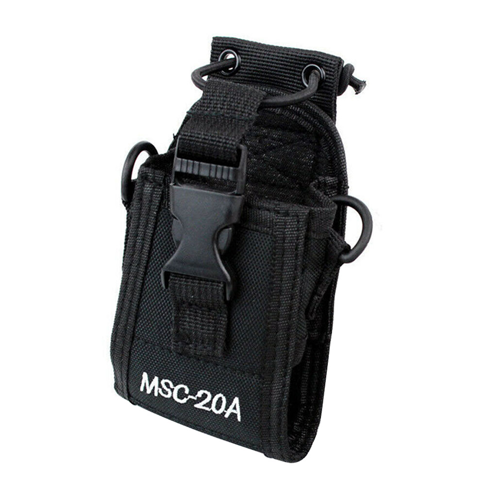 MCS20A Universal Pouch Portable Nylon Holster Two Way Solid Walkie Talkie Elastic Band Radio Case Holder Shoulder Hanging