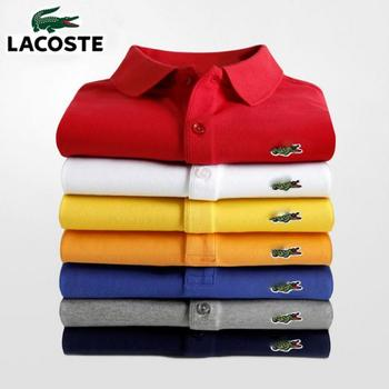 Men Summer Polo Shirt Brand Fashion Cotton Short Sleeve Polo Crocodile Shirts Male Solid Jersey Breathable Tops Tees 2635 2019 summer puppy stamp men polo shirt brand clothing pure cotton men business casual male polo shirt short sleeve breathable po
