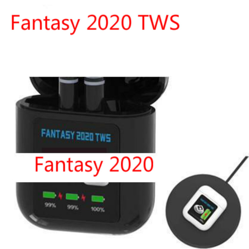 TWS Earpiece FANTASY 2020 LCD Display Mini Wireless Earbuds V5.0+Sports Running Earphones With Wireless Charging For Iphone