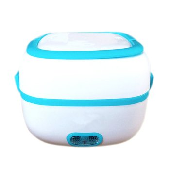 1L Multi-functional Electric Lunch Box 110/220V/Car EU/US Plug Food-Grade Mini Food Container Food Warmer For Dinnerware Sets image