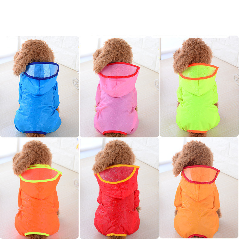 Brand Hooded Pet Dog Raincoats Waterproof Clothes For Small Dogs  Raincoat Puppy Rain Jacket XS-Xl